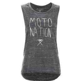 Fly Racing Womens Moto Nation Sleeveless Muscle T-Shirt Black