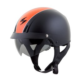 Black, Orange Scorpion Mens Exo-c110 Split Open Face Helmet 2014 Black Orange