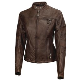 RSD Womens Maven Leather Riding Jacket Brown