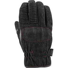 Speed & Strength Mens Gridlock Leather/Denim Riding Gloves Black
