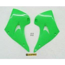 Acerbis Radiator Shrouds Green For Kawasaki KX-125/250 03-07