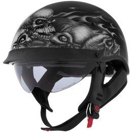Skull Pile Cyber Mens U-72 Lethal Threat Half Helmet 2013