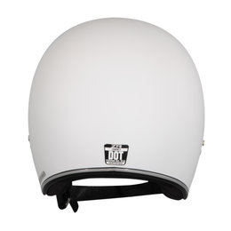 Z1R Jimmy Rubatone Open Face 3/4 Motorcycle Helmet With Snaps White