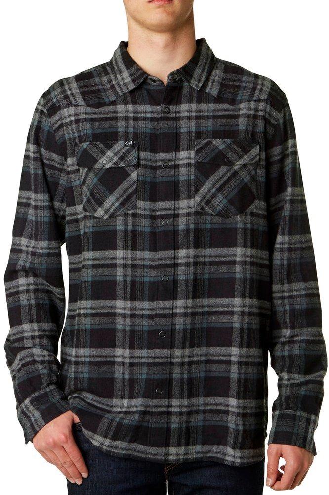Fox racing mens tidal long sleeve flannel shirt 250225 for Mens long sleeve flannel shirts