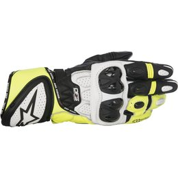 Alpinestars Mens GP Plus R Leather Riding Gloves White