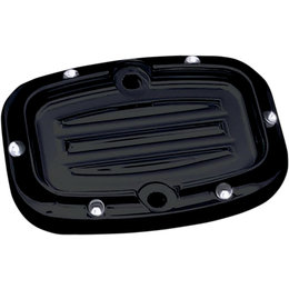 Covingtons Dimpled Rear Master Cylinder Cover Harley Touring Black C1157-B Black