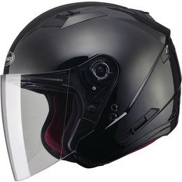 GMAX OF-77 Solids Dot Approved Open Face Helmet Black