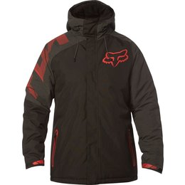 Fox Racing Mens Race Hooded Water-Resistant DWR Coated Cold Weather Jacket Black