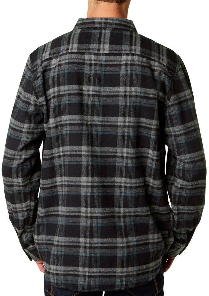 Fox racing mens tidal long sleeve flannel shirt x for Mens xl flannel shirts