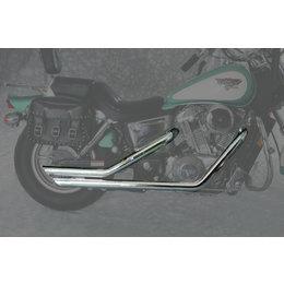 MAC 2:2 2-1/4 In Slash Back Drag Pipe Dual Exhaust Chr For Hon Shadow 1100 87-96