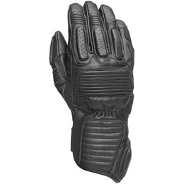 RSD Mens Ace Leather Padded Riding Gloves Black