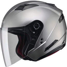 GMAX OF-77 Solids Dot Approved Open Face Helmet Silver