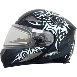 AFX FX90 Snowmobile Double Lens Electric Full Face Helmet Silver