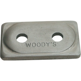 Woody's Angled Double Digger Snowmobile Support Plates 5/16 Inch 12-PK ADA2-3775 Unpainted