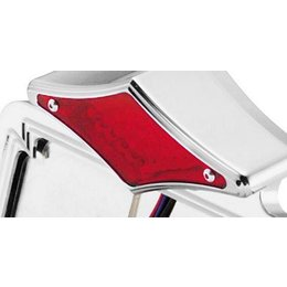 Red Bikers Choice Diamond Led License Plate Frame Lens Board