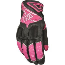 Fly Racing Womens Venus Textile Gloves Pink