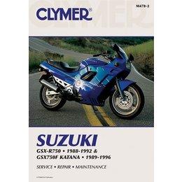 Clymer Repair Manual For Suzuki GSX-R750 GSX750F 88-96