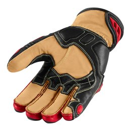Red Icon Mens Hypersport Pro Short Leather Gloves 2014