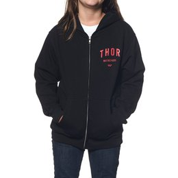 Thor Youth Girls Shop Zip Hoody Black