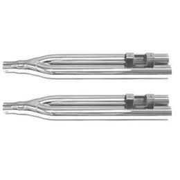 Chrome Baron 2-2-4 Slip On Mufflers For Harley Flh Flt 95-11