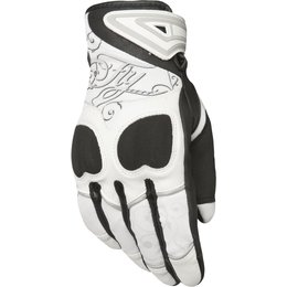 Fly Racing Womens Venus Textile Gloves White