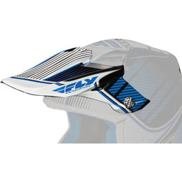 Blue, White Fly Racing Replacement Visor For F2 Carbon Trey Canard Replica Helmet Blue White
