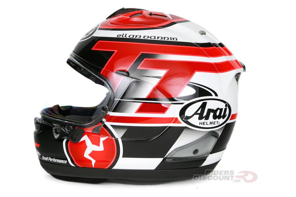 Full Motorcycle Helmet >> $1,049.95 Arai Corsair X Limited Edition 2016 IOM TT Full ...