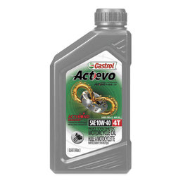 Castrol Actevo 4T Part-Synthetic Motorcycle Oil 10W40 1 Quart Each 06130 Unpainted