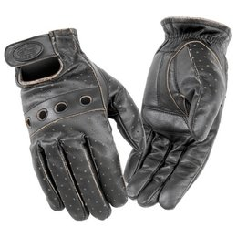 Distressed Brown River Road Outlaw Vintage Leather Gloves Brown