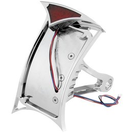 Chrome Bikers Choice Gothic Led License Plate Frame For Harley Softail