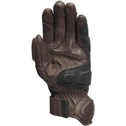 RSD Mens Ace Leather Padded Riding Gloves Brown