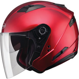 GMAX OF-77 Solids Dot Approved Open Face Helmet Red