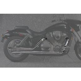 MAC 2:2 2-1/4 Inch Slash Back Drag Pipe Dual Exhaust Chr For Hon VTX1800C 02-07