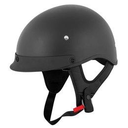 Speed & Strength SS410 Solid Speed Half Helmet Black