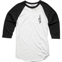 Thor Mens Juliet 3/4 Sleeve Raglan T-Shirt White