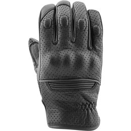 Speed & Strength Mens Straight Savage Leather Gloves Black