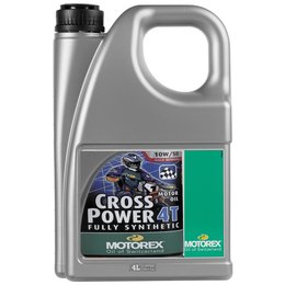 Motorex Cross Power 4T Full Synthetic Oil For 4-Stroke Engines10W50 4 Liter