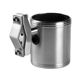 Kruzer Kaddy Kan-Do Kaddy Drink Holder 3 Mounting Options Stainless Universal