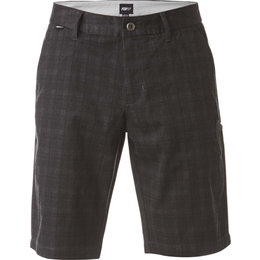 Fox Racing Mens Essex Plaid Cotton Blend Short Grey