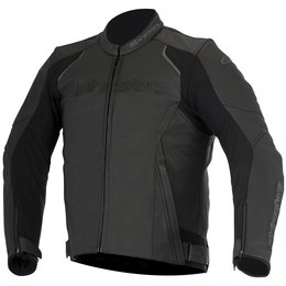 Alpinestars Mens Devon Armored Leather Jacket Black