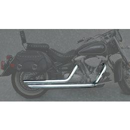 MAC 2:2 2-1/4 Inch Slash Back Drag Pipe Dual Exhaust Chr For Yam Road Star 99-07