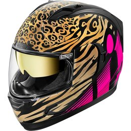 Icon Womens Alliance GT Shaguar Full Face Helmet Pink