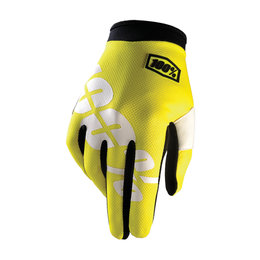 100% Youth Boys I-Track MX Motocross Offroad Riding Gloves Yellow