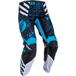 Fly Racing Youth Girls Kinetic Race MX Pants Blue