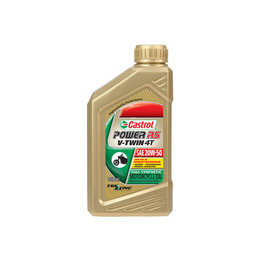 Castrol Power RS V-Twin 4T Full Synthetic Oil 20W-50 1 Quart