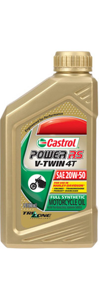 Castrol power rs v twin 4t full synthetic oil 216567 for Top rated motor oil synthetic