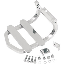 Drag Specialties Sissy Bar Luggage Rack For Harley-Davidson Chrome DS-720083 Metallic