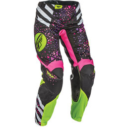 Fly Racing Youth Girls Kinetic Race MX Pants Pink