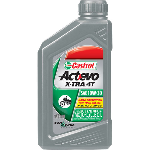 Castrol Act Evo X Tra 4t Synthetic Blend Oil 10w 30 216600