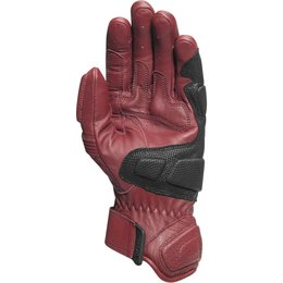 RSD Mens Ace Leather Padded Riding Gloves Red